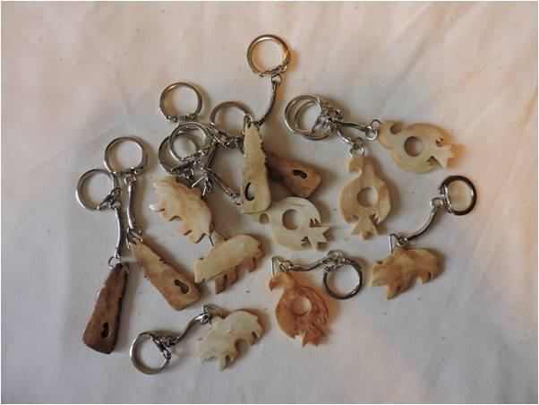 Bone Key Chain