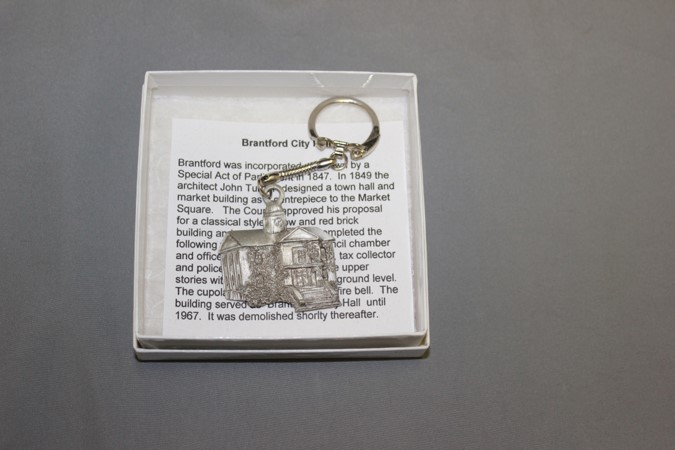 City Hall Keychain Ornament